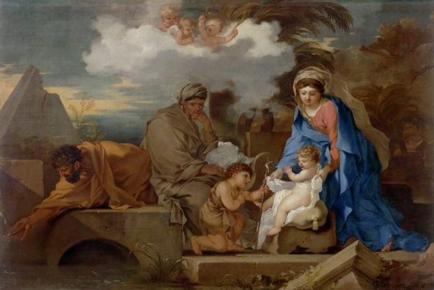 Sébastien Bourdon (1616–1671), Heilige Familie mit hl. Elisabeth und Johannesknaben, RGS, Inv.-Nr. 278, © 2020 RGS/Ghezzi