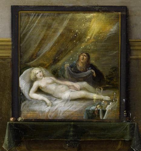 Frans Francken III. (1607–1667), Gesellschaftsszene, Ausschnitt Danae, RGS, Inv.-Nr. 28, © 2020 RGS/Ghezzi