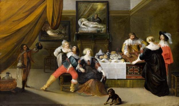 Frans Francken III. (1607–1667), Gesellschaftsszene, RGS, Inv.-Nr. 28, © 2020 RGS/Ghezzi