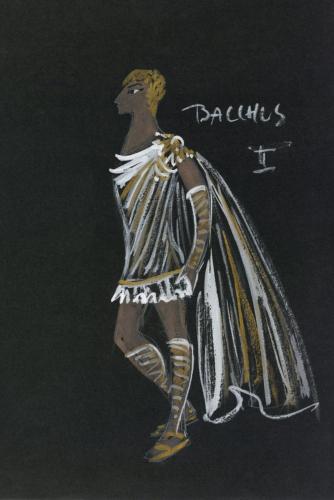 Richard Strauss (1864–1949), Ariadne auf Naxos, 1964, Ita Maximowna (1901–1988), Kostümfigurine Bacchus, © Archiv der Salzburger Festspiele/Aufnahme: Ulrich Ghezzi, Oberalm