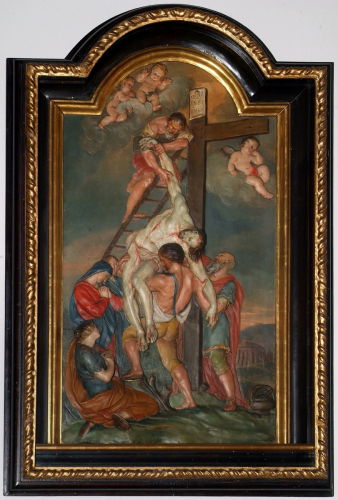 The Deposition from the Cross, 1725, Georg Raphael Donner, painted stucco, on loan from the Collegiate Church, Salzburg, © Dommuseum, J. Kral