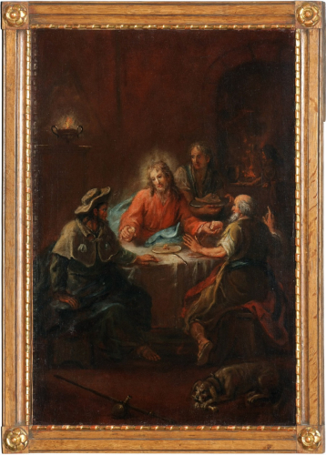 Christ in Emmaus, Johann Martin Schmidt, known as Kremser Schmidt, oil on canvas, inv.no. KAT 176, © Dommuseum, J. Kral