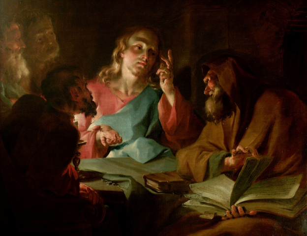 Christ and Nicodemus, 1739, Paul Troger, oil on canvas, on loan from St Ursula's Convent, Salzburg, © Dommuseum, J. Kral