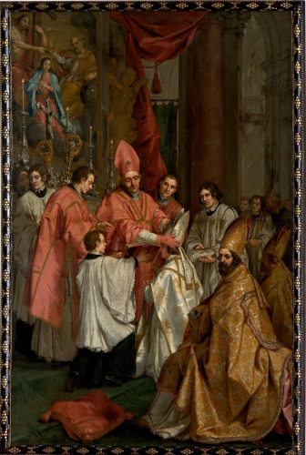 Consecration of Bishop Virgil, 1672, Frans II de Neve, oil on canvas, inv.no. KAT 101, © Dommuseum, J. Kral