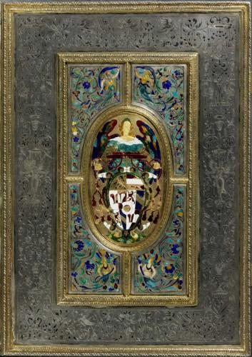 Missal of  Prince-Archbishop Wolf Dietrich von Raitenau, 1598/1599, Cover 1601/1603, Hans Karl, silver, partly gilded, enamel, niello, inv.no. S 12, ©Dommuseum, J. Kral