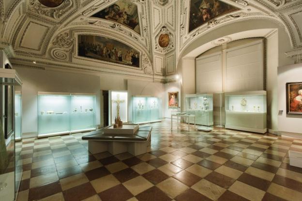 Ansicht der Dauerausstellung im Dommuseums heute