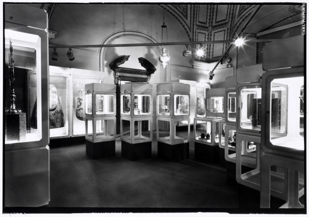 Historische Ansicht der Dauerausstellung im Dommuseum
