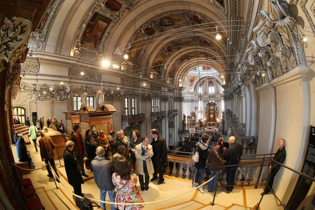 Orgelempore bei der Eröffnung des DomQuartiers 2014