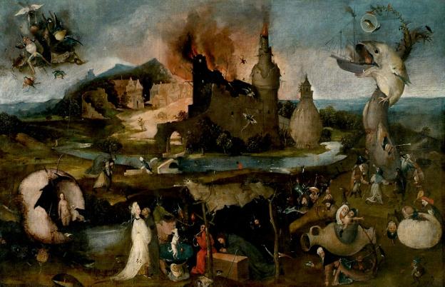 Die Versuchung des hl. Antonius, 1500/1510, Hieronymus Bosch, Nachfolger, Öl auf Leinwand, Inv.Nr. D 228, ©Dommuseum, J. Kral