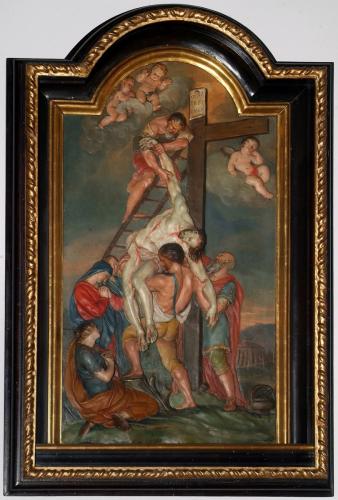 Kreuzabnahme, 1725, Georg Raphael Donner, Stuck, gefasst, Leihgabe der Kollegienkirche, Salzburg, ©Dommuseum, J. Kral