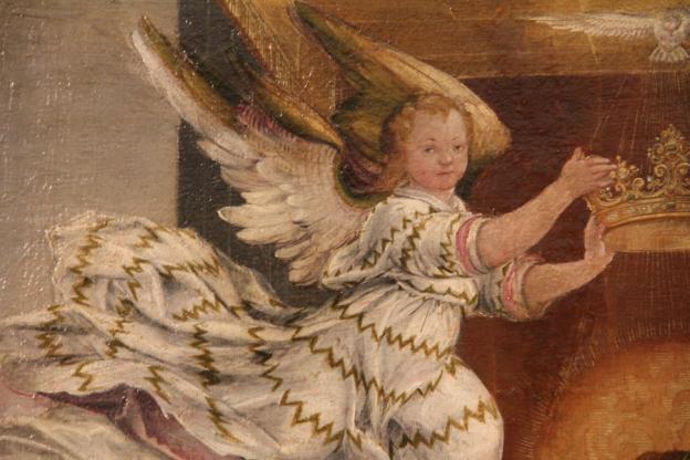 Caspar Memberger d. Ä., Maria mit Kind, Öl auf LW, 1589, Residenzgalerie, Ausschnitt