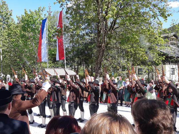 Schützenkompanie zur feierlichen Eröffnung des Bergbau- und Gotikmuseums in Leogang © 2019 AD/RGS/DQ