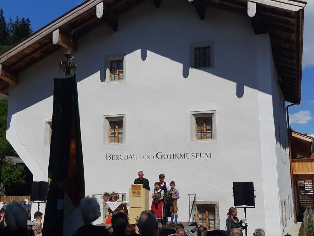 Prof. Hermann Mayrhofer zur feierlichen Eröffnung des Bergbau- und Gotikmuseums in Leogang © 2019 AD/RGS/DQ