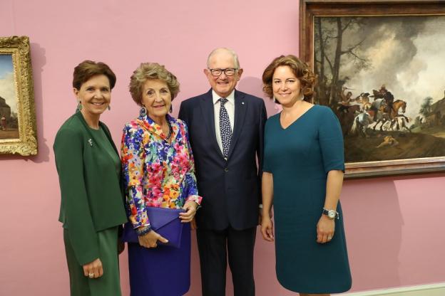Landtagspräsidentin Brigitta Pallauf, Prinzessin Margriet der Niederlande mit Ehemann Pieter Vollenhoven und Elisabeth Resmann (Geschäftsführerin DomQuartier Salzburg)