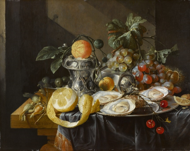 Cornelis de Heem, Still Life with Oysters, Lemons and Grapes, oil/oak, 35.5 x 45 cm, inv. no. 561 © RGS/Ghezzi