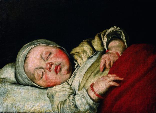 Bernardo Strozzi, Schlafendes Kind,  Öl/Leinwand, 34,5 x 47,6 cm, Inv. Nr. 567 © RGS/Ghezzi