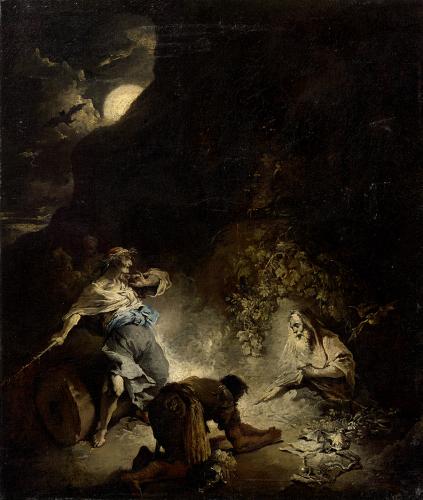 Art des A. Magnasco, König Saul und die Hexe von Endor  © RGS/ Ghezzi