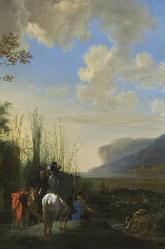 Jan Asselijn, Küstenlandschaft mit rastenden Reitern © Gemäldegalerie der Akademie der bildenden Künste, Wien, Inv.-Nr. GG-869