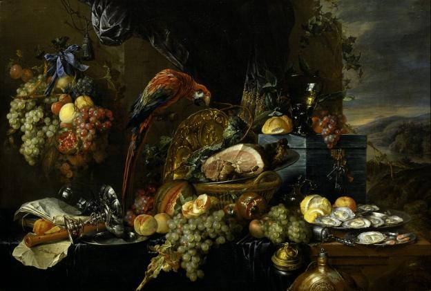 Jan Davidsz. de Heem, Prunkstillleben mit Papagei © Gemäldegalerie der Akademie der bildenden Künste, Wien, Inv.-Nr. GG-612