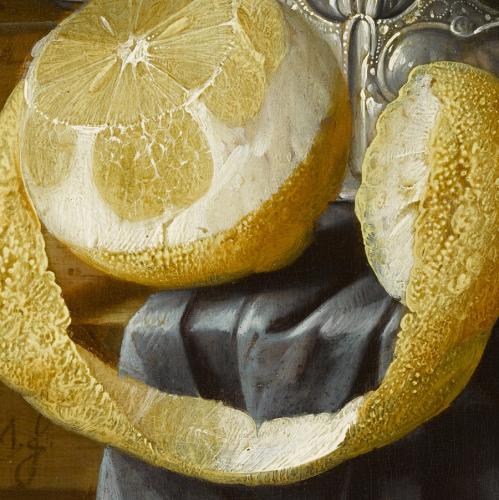 Cornelis de Heem, Stillleben mit Austern, Zitrone und Trauben, Ausschnitt © RGS/Ghezzi