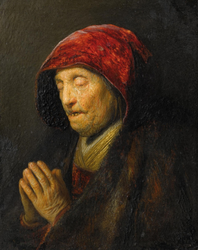 Rembrandt Harmensz. van Rijn, Betende alte Frau © RGS/Ghezzi