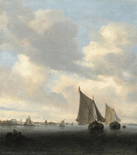 Salomon van Ruysdael, Seascape with Sailing Boat on the Right, oil/oak, 35.8 x 32.9 cm,  inv no. 552  © RGS/Ghezzi
