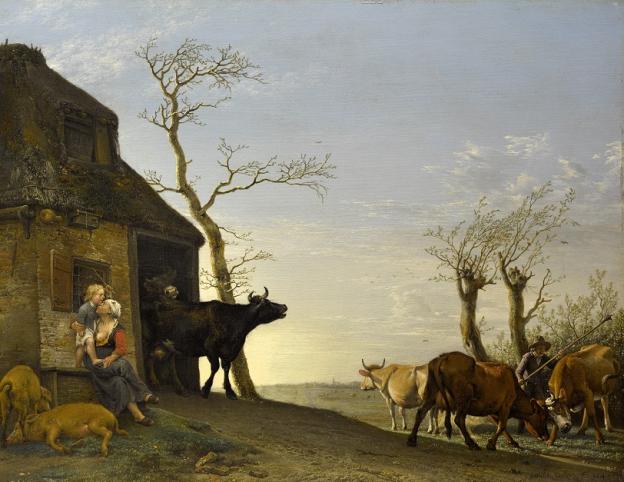 Paulus Potter, Viehaustrieb am Morgen, 1647, Öl/Eichenholz, 38,5 x 50 cm, Inv. Nr. 548  © RGS/Ghezzi