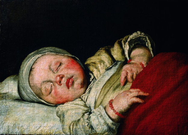Bernardo Strozzi, Sleeping Child, oil/canvas, 34.5 x 47.6 cm, inv. no. 567 © RGS/Ghezzi