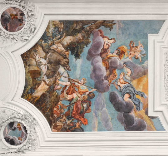 Deckenbild im Carabinierisaal vom Maler Johann Michael Rottmayer