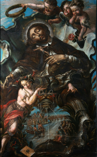 Apotheosis of John Nepomuk, 2nd quarter of the 18th century, Oil and Mezzotint on wood, Cathedral Museum, Inv.Nr. D 325 © Dommuseum