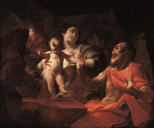 Paul Troger, The Young Moses in front of Pharaoh, 1739/40, oil/canvas 110.5 x 132 cm, inv. nr. 297  © RGS/Ghezzi