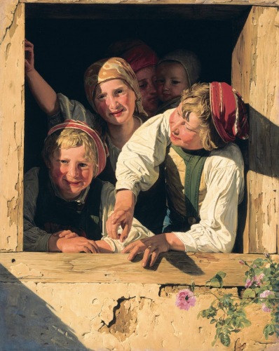 Ferdinand Georg Waldmüller, Kinder im Fenster, Öl/Leinwand, 85 x 69 cm, Inv. Nr. 335 © RGS/Ghezzi