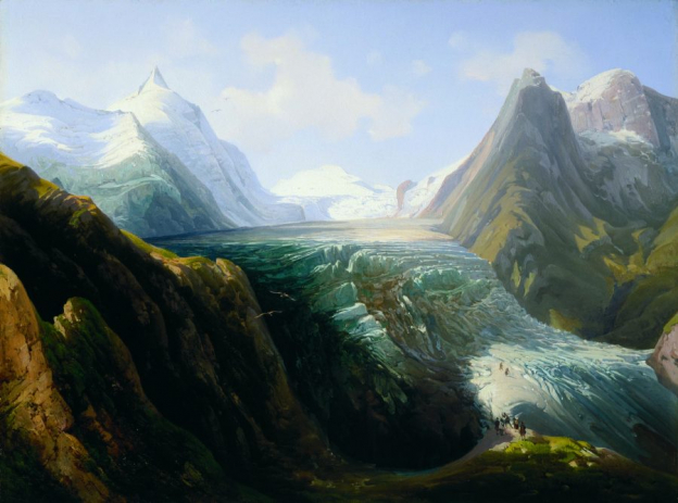 Thomas Ender, The Großglockner Mountain with the Pasterze Glacier, oil/wood, 42.5 x 60.5, inv. no 592 © RGS/Ghezzi