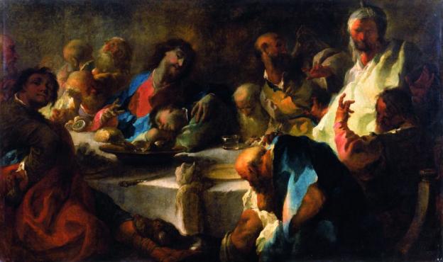 Franz Anton Maulbertsch, Das letzte Abendmahl, Öl/Leinwand, 134,5 x 222,5 cm,  Inv. Nr. 233 © RGS/Ghezzi