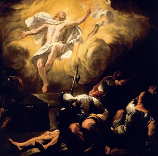 Luca Giordano (1634 Neapel – 1705 Neapel), Auferstehung, nach 1665, Öl/Leinwand, 114 x 116 cm , Residenzgalerie Salzburg © RGS/Ghezzi