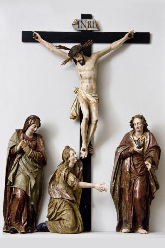 Hans Pernegger der Jüngere (1603–1664), Kreuzigungsgruppe, um 1632/1634,  Leihgabe der Pfarrkirche Thalgau © Dommuseum/J. Kral