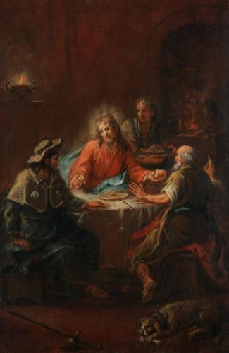 Christus in Emmaus, um 1790, Martin Johann Schmidt, genannt Kremser Schmidt (1718–1801), Öl auf Leinwand © Dommuseum/J. Kral