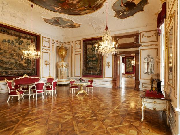Vorzimmer zum Audienzsaal und Warteraum auf die Audienz beim Fürsterzbischof © SBSB