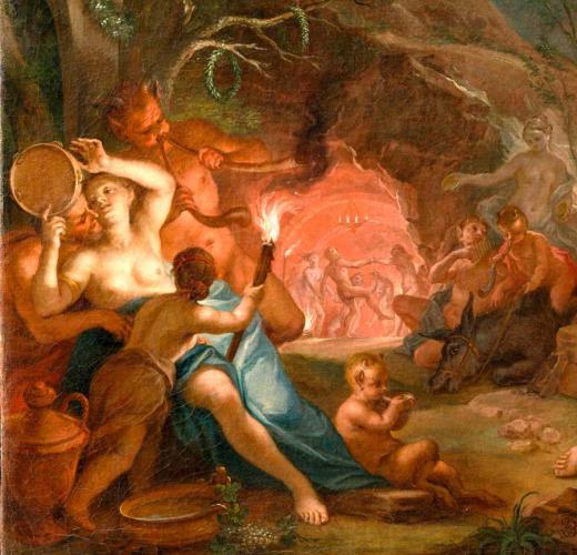 Bacchusgefolge und das Spiel Pans