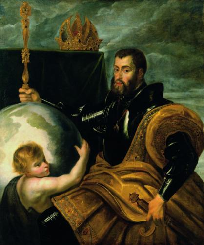 Peter Paul Rubens, Allegorie auf Kaiser Karl V. als Weltenherrscher, Öl/Leinwand,  16,5 x 141 cm, Inv. Nr. 303 © RGS/Ghezzi