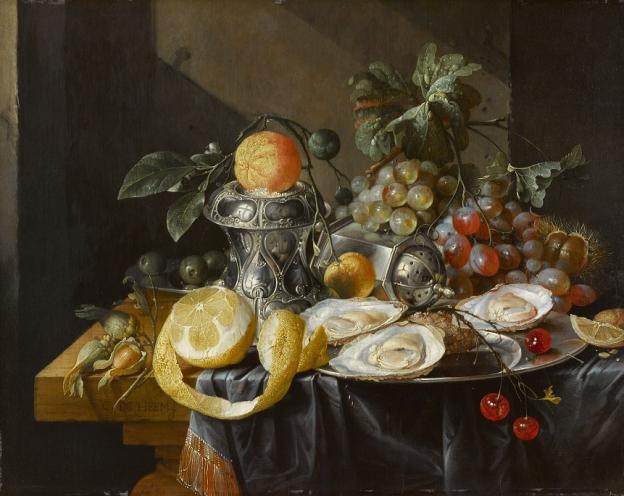 Cornelis de Heem, Stillleben mit Austern, Zitronen und Trauben, Öl/Eichenholz, 35,5 x 45 cm, Inv. Nr. 561 © RGS/Ghezzi