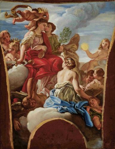 Nach Giovanni Battista Gaulli, gen. Il Baciccio (1639-1709) Allegorie der Justitia, ca. 1670 © Salzburg Museum
