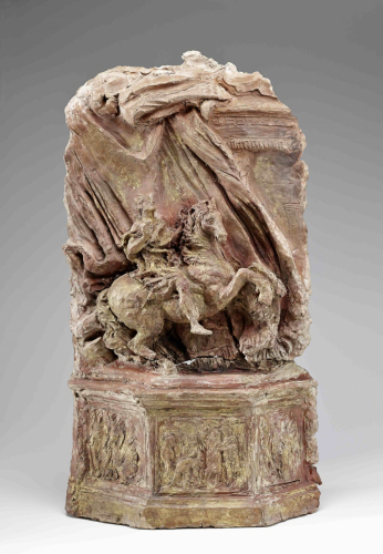 Gianlorenzo Bernini (1598-1680), Atelier, Entwurf für das Reiterstandbild an der Scala Regia, St. Peter, Rom, 1665; Terracotta © Salzburg Museum