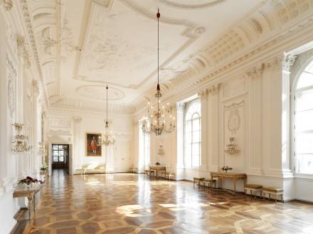 Weißer Saal in der Salzburger Residenz © Salzburger Burgen & Schlösser / H.Kirchberger