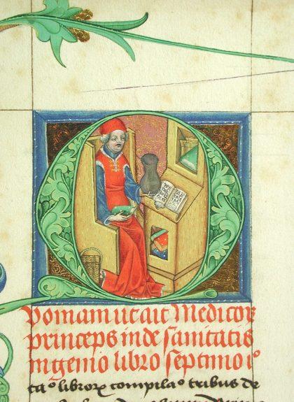 Gotische Buchmalerei, Exponat aus der Universitätsbibliothek Salzburg; Dommuseum zu Salzburg