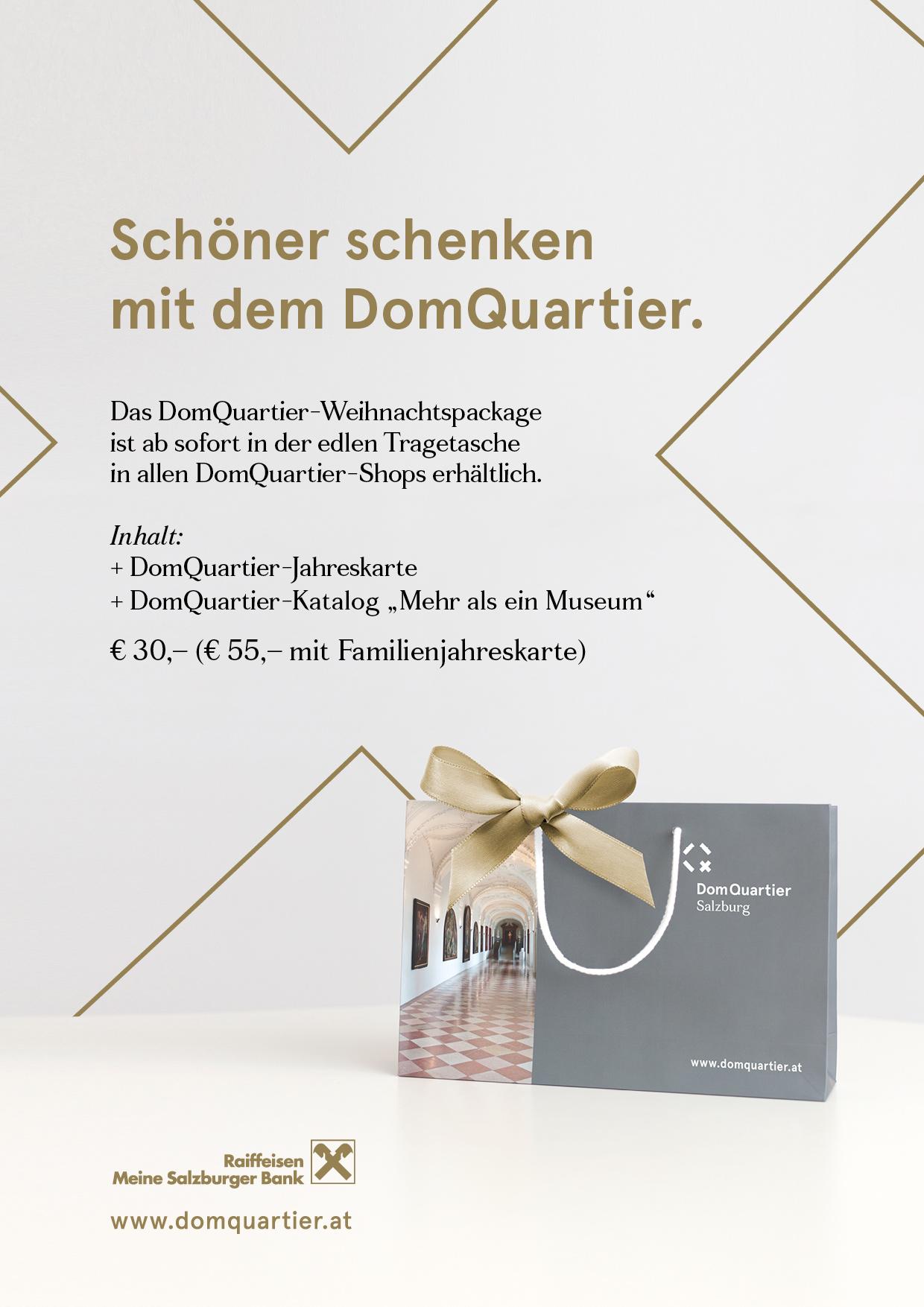 Veranstaltung Ein Geschenk, das 365 Tage im Jahr Freude macht! im DomQuartier Salzburg