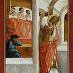 Nikolaus beschenkt die drei Töchter