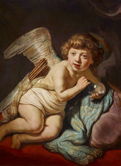 Amor mit Seifenblasen von Rembrandt