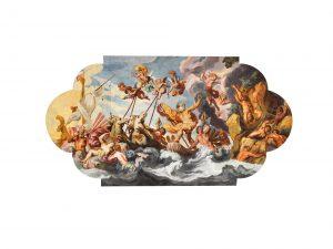 Rottmayr, Neptun gebietet den Winden Einhalt, Fresko, Carabinierisaal