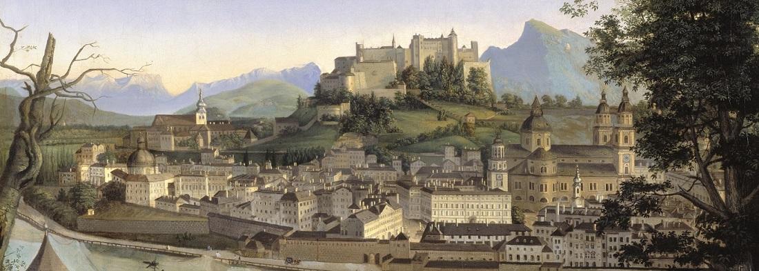Blick auf Salzburg von Franz Xaver Mandl DomQuartier Salzburg